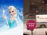 『アナ雪』エルサの姿をした男性が車を動かす姿がなかなかシュール