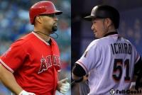 """イチローとプホルスがハグ MLB公式サイトは「史上最高」の""""共演""""に興奮"""