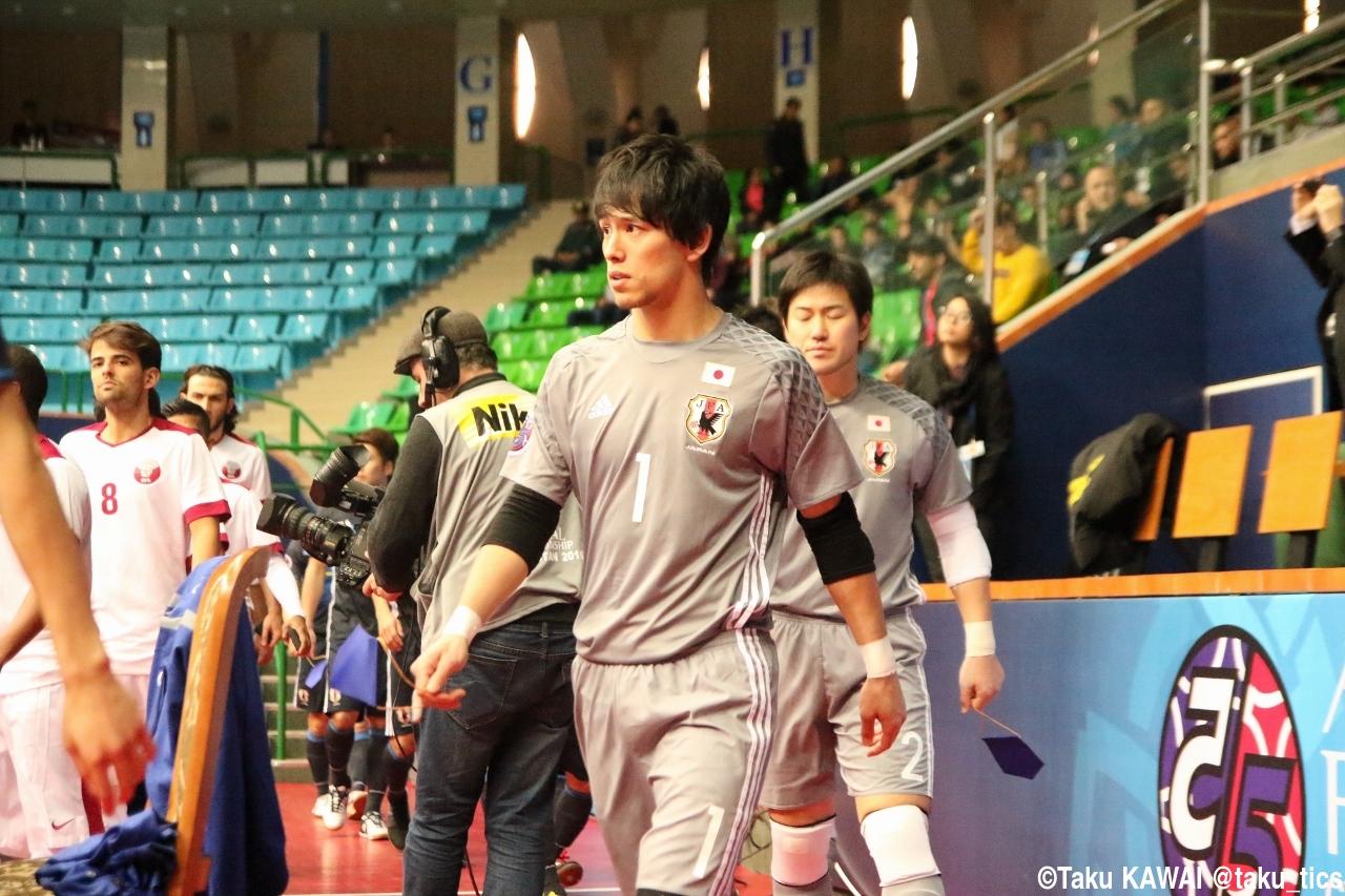 [AFCフットサル選手権]日本代表の守護神 GK関口、田中、藤原