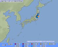 福島県沖でM4.8の地震 楢葉町で震度4 津波の心配なし