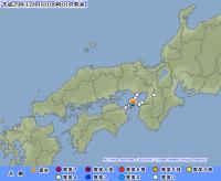 大阪湾でM3.6の地震 洲本市で震度3