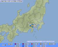 富士山ふもと〜山梨県東部・富士五湖でM3.5の地震 山北町などで震度2