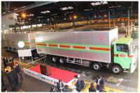 25メートルの「ダブル連結トラック」 福山通運が運行実験