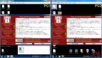 2台のPCで「WannaCry」感染が広がる様子……IPAがデモ動画公開