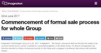 Appleから調達停止宣告されたImagination、全社売却へ