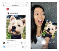Instagram、「ダイレクト」のコメントで相手の画像をスタンプにする機能