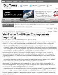 iPhone X、11月以降の出荷は大幅に改善か