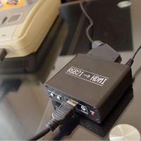 スーファミやセガサターンの画面を鮮明に サンコー「RGB21-HDMI変換アダプタ」