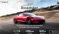 "Tesla、""世界最速""謳う4駆電気スポーツカー、新「Roadster」披露"
