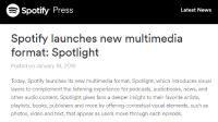 Spotify、マルチメディアコンテンツ「Spotlight」でBuzzFeedなどメディアと提携