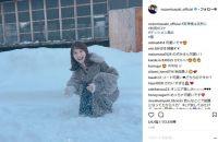 """""""雪の妖精""""佐々木希、「彼女と雪遊びなう」な写真でファンをノックアウトする"""