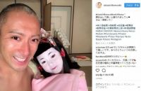 """「麻央さんにそっくり」 市川海老蔵、長女の麗禾ちゃんと""""顔出し""""2ショットでデレデレ笑顔"""
