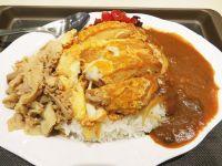 カツ丼+カレー+豚肉! 富士そばのダイナミックすぎる新メニュー「よくばりコンボ」が想像をちょっと超えていた