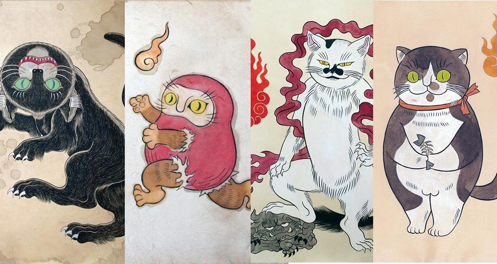 とてもキュートな妖怪たち!独自の絵画世界を繰り広げる石黒亜矢子さんの妖怪画がステキ