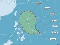 台風21号発生  台湾に直接影響する可能性低く