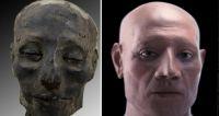 こんな顔をしていたようだ。3500年前のミイラから古代エジプト人の顔と脳を復元。