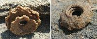 浜辺に砂でできた謎の円盤状の物体が!海岸版ミステリーサークルの正体は?