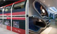 仮眠用ポッド、ジムスペース搭載。通勤列車の概念を覆すドイツの近未来的ダブルデッカー列車の構想モデルが公開される