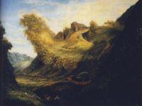 17世紀前後のヨーロッパで流行った古典的騙し絵。人物像を隠した風景画
