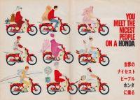 1960年代アメリカで空前のヒット!ホンダのバイク「スーパーカブ」の広告ポスター