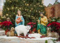 やはり猫は神なのか?イエス・キリストの生誕シーンを模したクリスマスの飾りにやたらと猫が降臨してくる件に関して。