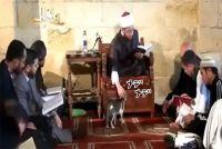 猫は全神説。イスラム教のモスクに現れ聖典を読む指導者にモフを要求。あげく一番高い位置に鎮座する