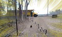 オンドリの犬化が加速。スクールバスに一直線、学校から帰ってくる娘さんに忠誠を尽くすオンドリ・ザ・ジェントルマン