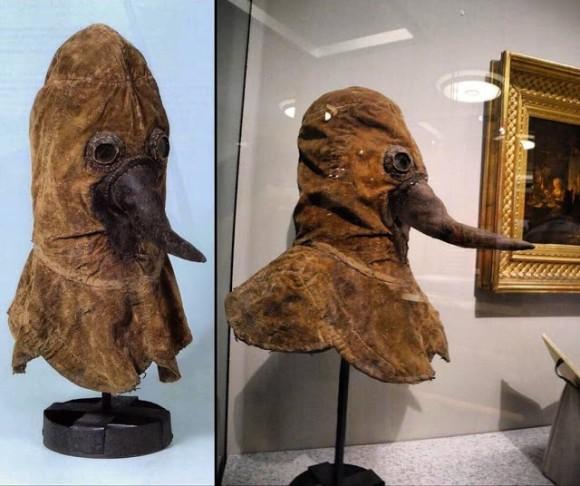 中世のペスト専門医師が着用していたマスク(ドイツ医学史博物館 ...