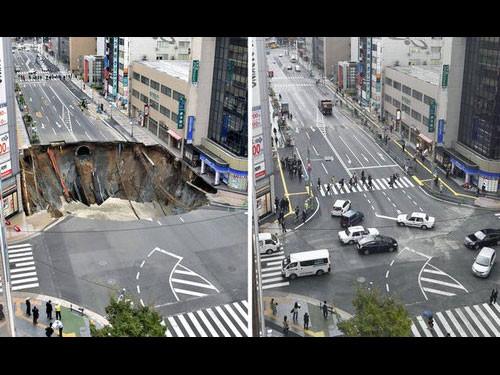 海外「博多駅前の道路陥没…たった1週間で復旧ってジョークだろう ...
