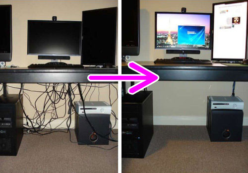 Computer Desk Cable Management
