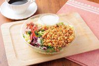 ローソンからロカボな新商品『NLフルグラをかけて食べるチョップドサラダ』