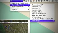 Macのメニューバーに天気の詳細情報を追加してくれる『Meteorologist』