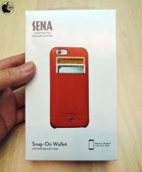 Apple Store、SenaCasesのiPhone 6/6s用レザーケース「Sena Isa Snap-On Wallet Case for iPhone 6/6s」のレッドモデルを販売開始