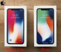 iPhone X:スペースグレイとシルバーの箱のLive壁紙写真違い