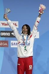 <世界水泳>大橋悠依が銀メダル 女子200m個人メドレー