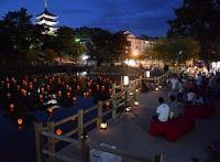 <奈良>猿沢池に初の「池床」 京都の川床をイメージ