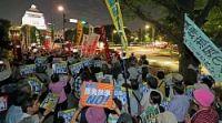 <安保法成立2年>「9条壊すな」国会議事堂前で反対集会
