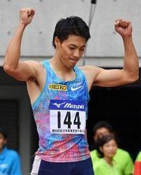 <陸上>山県亮太が10秒00 日本歴代2位タイ