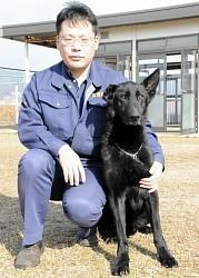 <広島>警察犬リップスがお手柄!証拠品を早期押収