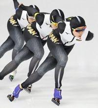 <五輪スケート>日本が準決勝へ 女子団体追い抜き
