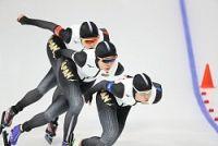 <五輪スケート>日本の銀メダル以上確定 女子団体追い抜き