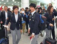 <平昌五輪>金の羽生らヤンヤン空港に 日本選手団が帰国へ