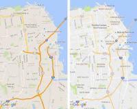 Googleマップ、地名や施設名のフォントと色の変更でより見やすくアップデート
