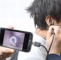 耳の中をカメラ映像で見ながら掃除できる「USBイヤースコープ」、サンコーから