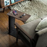 サンワ、内部にUSB充電器を内蔵できるスタイリッシュなサイドテーブルを発売