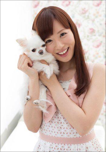 犬と皆藤愛子の2ショット