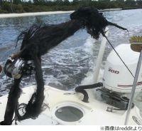 雷に打たれた釣竿が壮絶すぎる