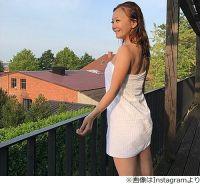 華原朋美、留学先の湯上がりショットに反響