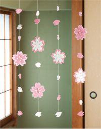 キラキラ輝く 春に咲く満開の桜のつるし飾りの作り方(和小物)