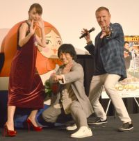 内田理央、ジャッキーちゃんとアクション披露 レニー・ハーリン監督も絶賛